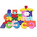 Jigsaw Puzzles Jigsaw Puzzle Building Blocks DIY Toys Train 1 Wood Rainbow