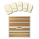 1sheet  Gold Nail Stickers XF6022