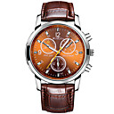 Men's Fashion Watch Quartz PU Band Vintage Black White Brown Brand