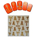 1sheet  Gold Nail Stickers XF6023