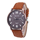 Men's Dress Watch Fashion Watch Quartz PU Band Vintage Black White Brown Brand
