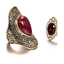 Ring Euramerican Daily Jewelry Alloy Ring 1pc,One Size Red