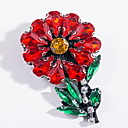 Brooches Flower Alloy Red Basic Design Jewelry Daily
