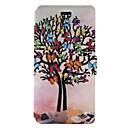 Für Kreditkartenfächer mit Halterung Flipbare Hülle Muster Hülle Handyhülle für das ganze Handy Hülle Baum Hart PU - Leder für Huawei