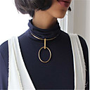 Women's Choker Necklaces Pendant Necklaces Jewelry Geometric CopperUnique Design Dangling Style Pendant Geometric Euramerican Fashion