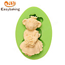 Animal Mould Bride Teddy Bear Fondant Silicone Molds for cake decorating