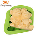 Animal Mould LOVE Teddy Bears Fondant Silicone Molds for cake decorating Colour Random
