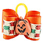 Halloween Pumpkin Style Tiny Rubber Band Hair Bow for Dogs Cats