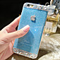 Jelly Color Glitter Pattern Hard Back Case for iPhone6 Plus(Assorted Color)