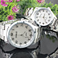 Couple's Simple Fashion Round dial Alloy Band Quartz waterproof Wrist Watch Cool Watches Unique Watches
