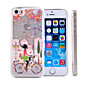 Bicycle Girl Pattern Quicksand Transparent PC Material Phone Case for iPhone 6