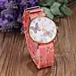 Women's Fashion Butterfly & Flower Pattern PU Band Quartz Watch Cool Watches Unique Watches