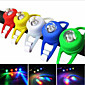Two Pieces outdoor Bike Bicycle Silicone Frogs Head Rear Lamp Warning Flash LED Light