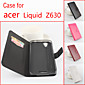 For Acer Case Card Holder / with Stand / Flip / Magnetic Case Full Body Case Solid Color Hard PU Leather Acer