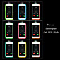 Call LED Blink Transparent Electroplate TPU Back Cover Case For iPhone 6/6S(Assorted Colors)