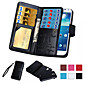 2 in 1 Magnetic 9 Card Sot Leather Wallet Flip Cover Slot Phone Cases for Samsung Galaxy S7/S7 Edge