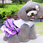 Dog Dress Red / Purple Dog Clothes Spring/Fall Bowknot / Polka Dots Fashion