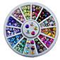 12colours Ogival Base Rhinestone Nail Jewelry Decorative Turntable Nail Tool